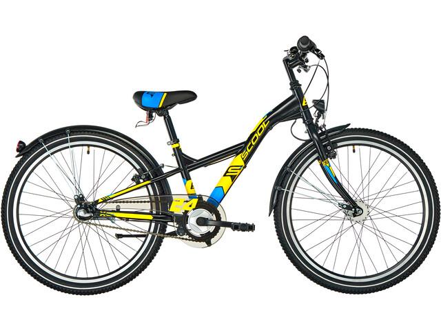 s'cool XXlite 24 3-S Børnecykel steel sort (2019) | City-cykler